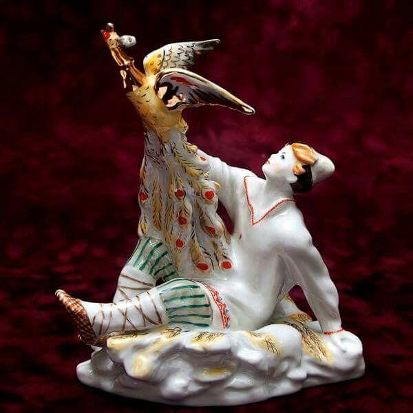 """Porcelain Sculpture """"Ivan and the Firebird"""" USSR LFZ - 1956. #USSR"""