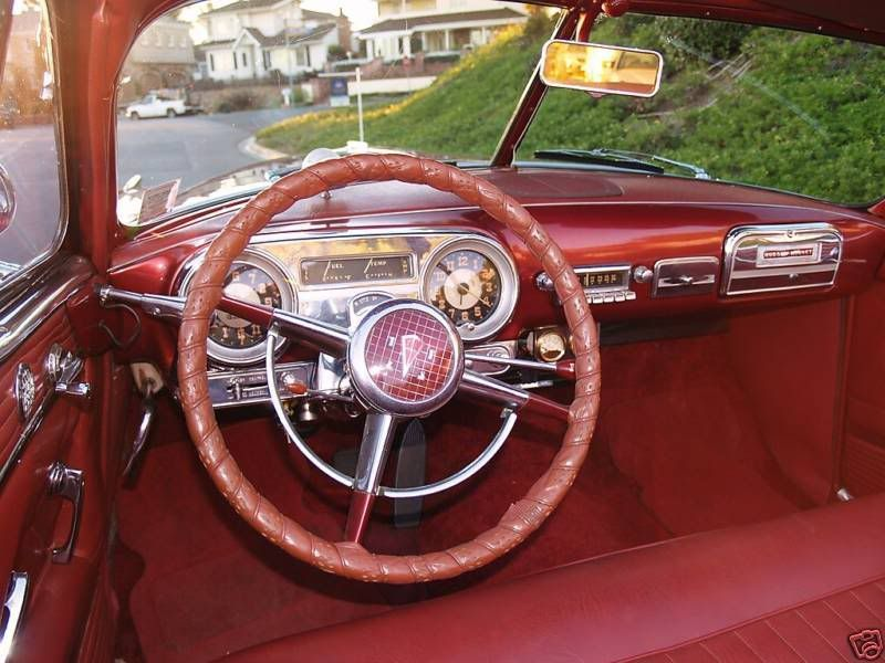 Interior view of a Hudson Hornet, the type of car driven in ...