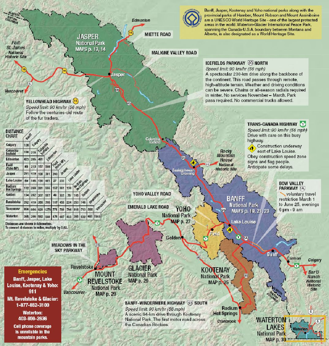Map Of Rockies Canada The Complete Guide to Travelling in the Canadian Rockies