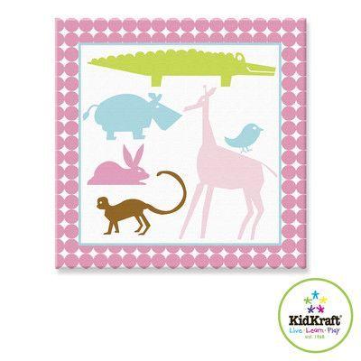 KidKraft Girl Animals Canvas Art