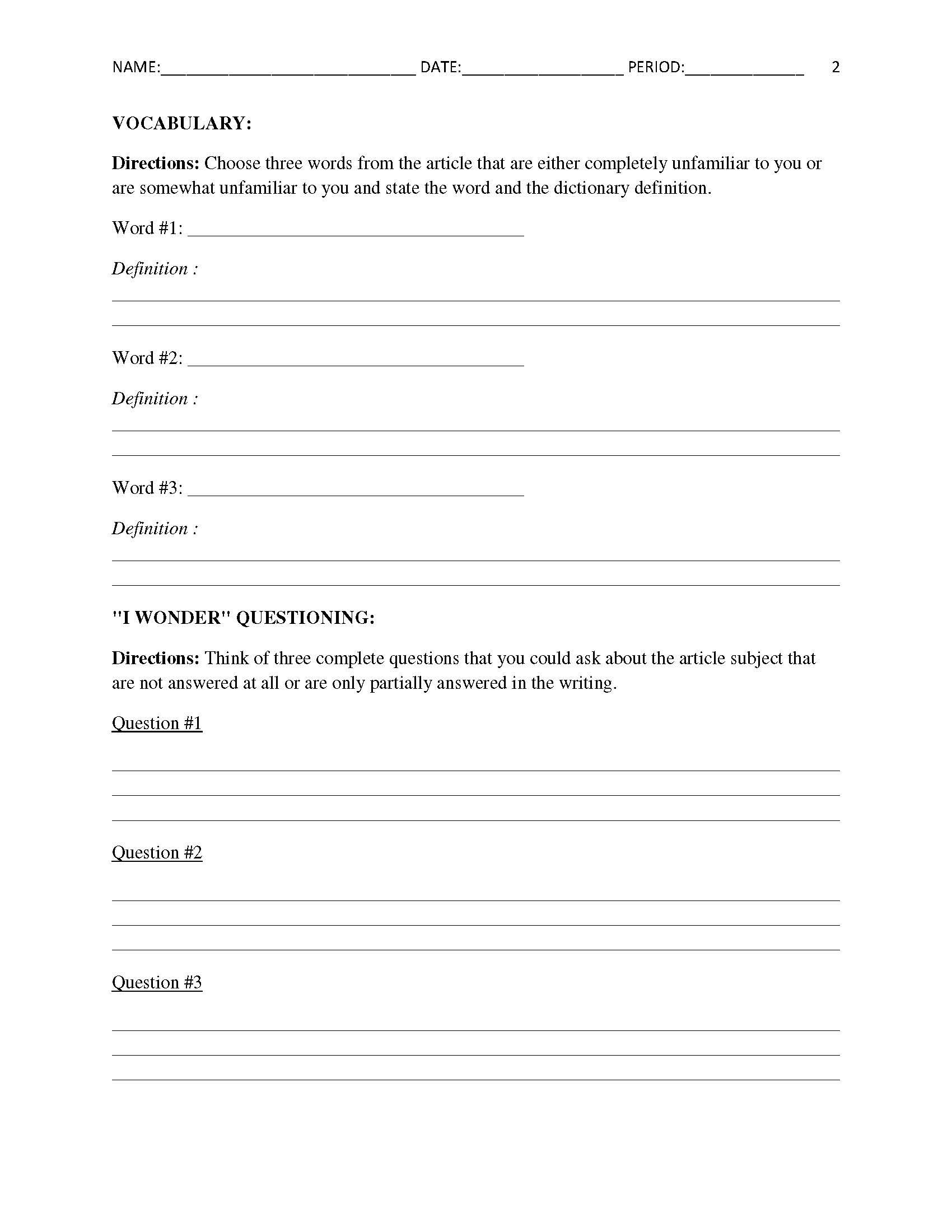 worksheet Current Events Worksheets free current events report worksheet for classroom teachers teachers