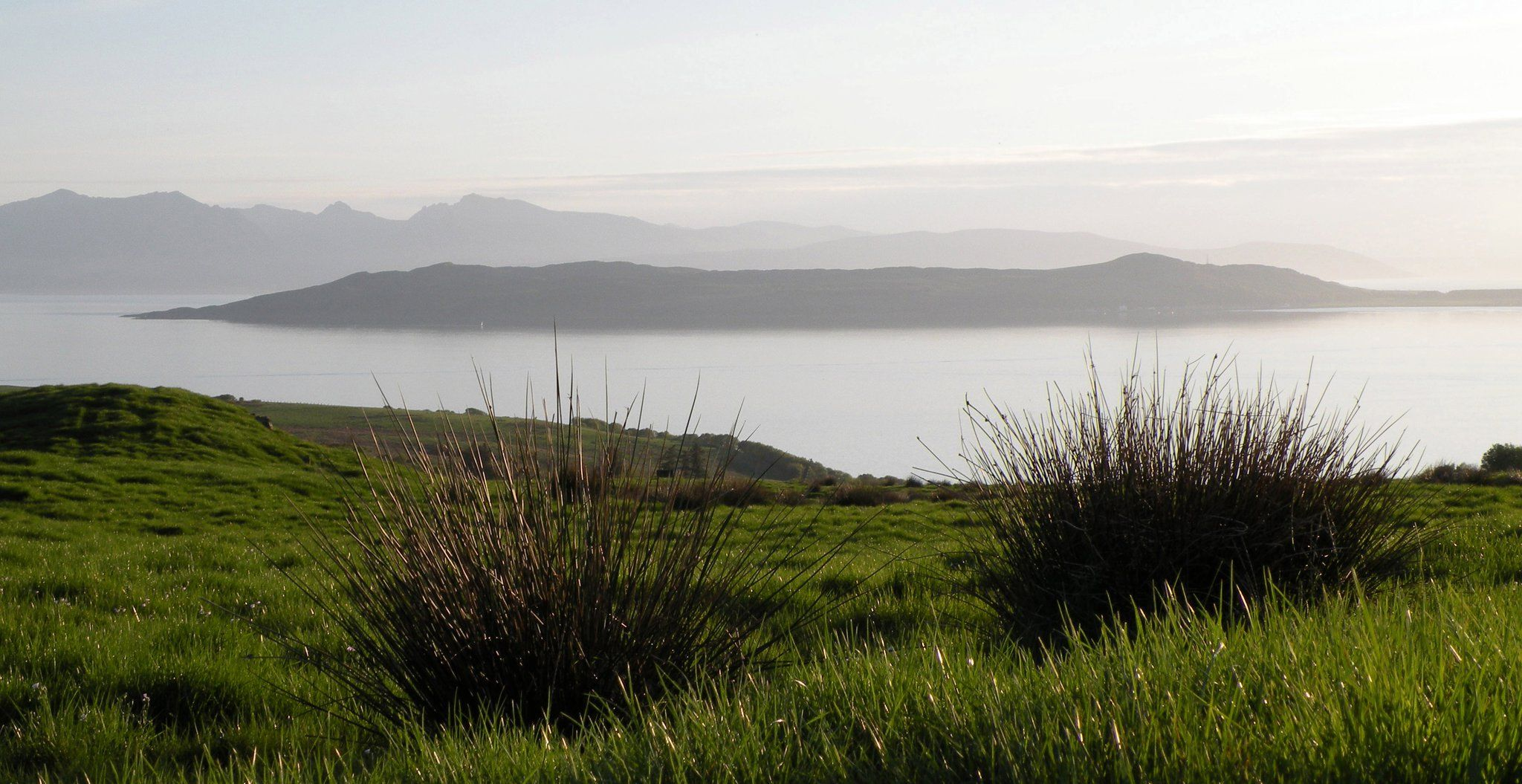On the Island of Cumbrae looking over to Arran, on the west coast.