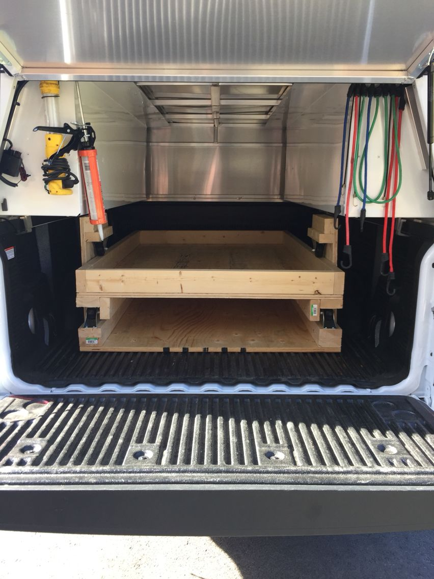 DIY truck bed pull out drawer. Diy truck bedding, Pull
