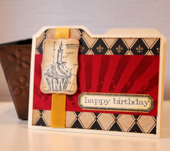 Happy Birthday Card Cupcake Architecture by MrsKristenCreations
