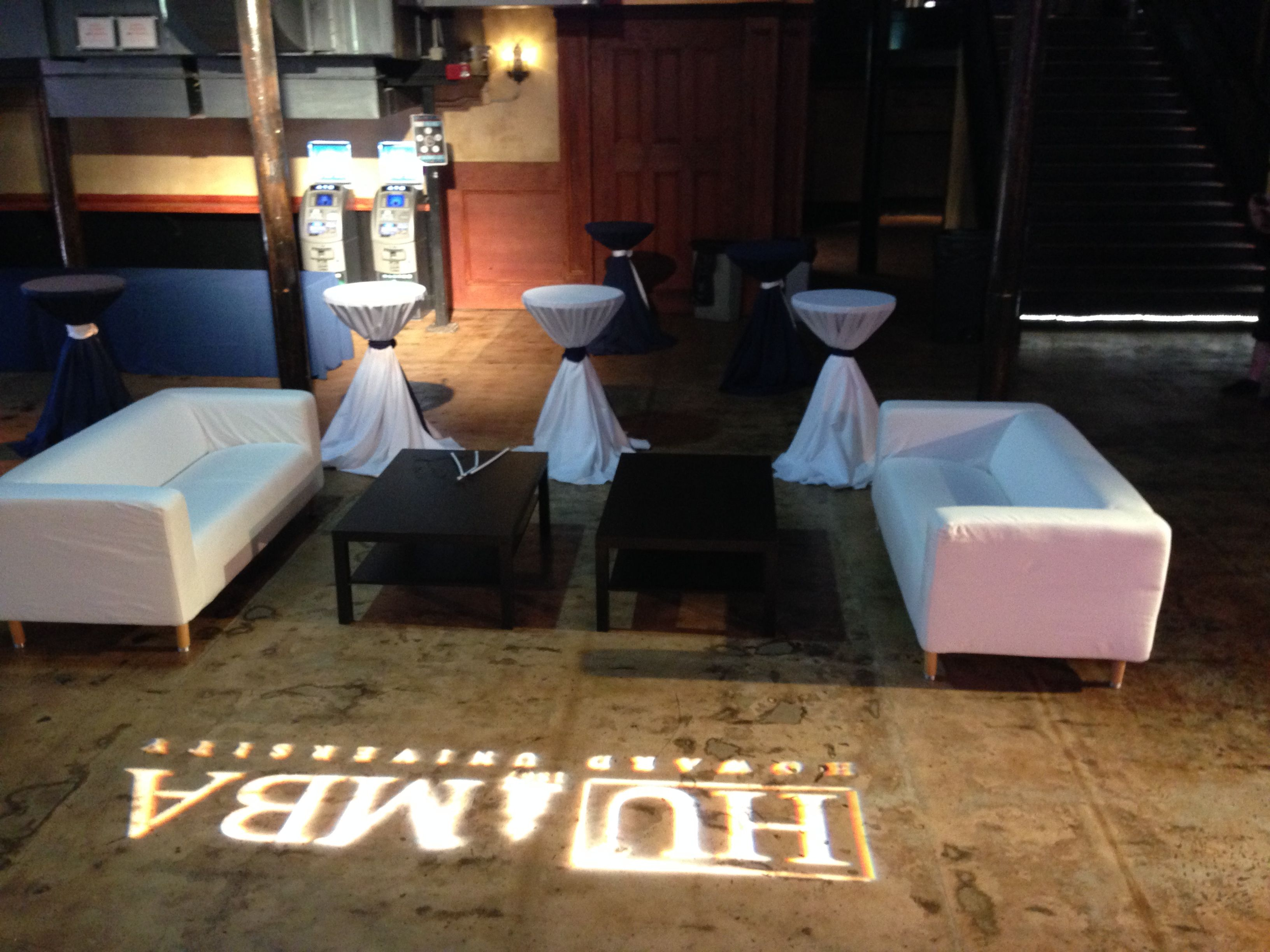 One Lounge Our Company Set Up For A Release After Party At The Tablernacle Atlanta Rental Vip Lounge Party Furniture Table Linen Rentals Party Rentals