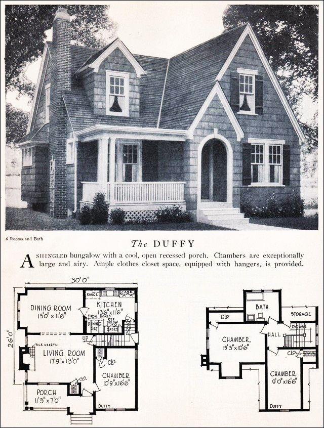 Vintage Cottage Floor Plan The Duffy