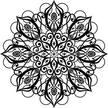 Vector Illustration Of Arabic Circle Ornament Zip Corel