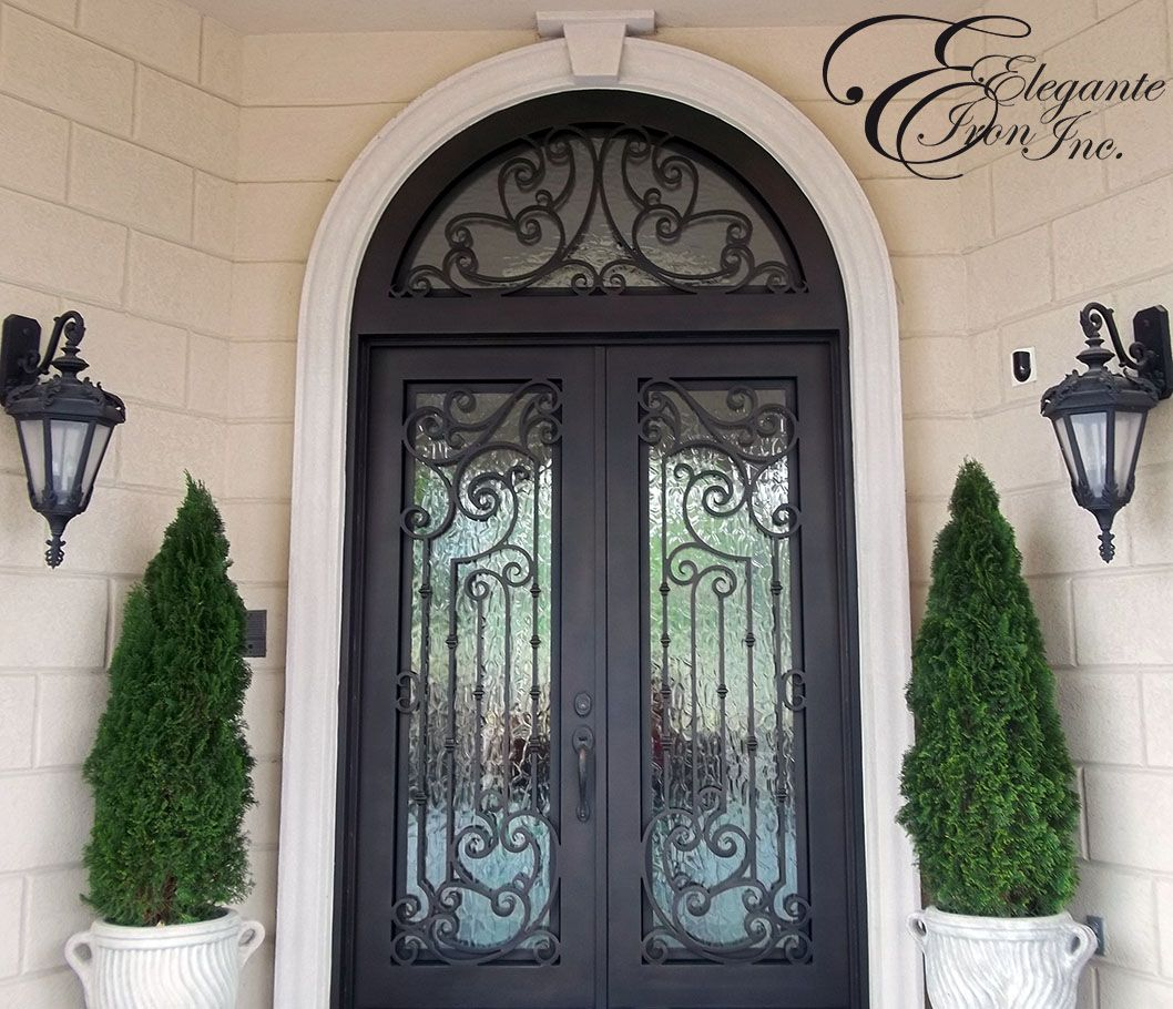Custom Wrought Iron Door With Arched Transom With Images