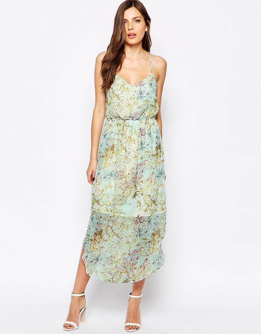 cbaeea41357 Image 1 of BCBG Generation Maxi Dress With Sheer Skirt In Floral 파티 드레스