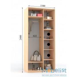 "Sliding wardrobe 2 doors ""Premium"" (110x60x240), buy in Kiev with …"