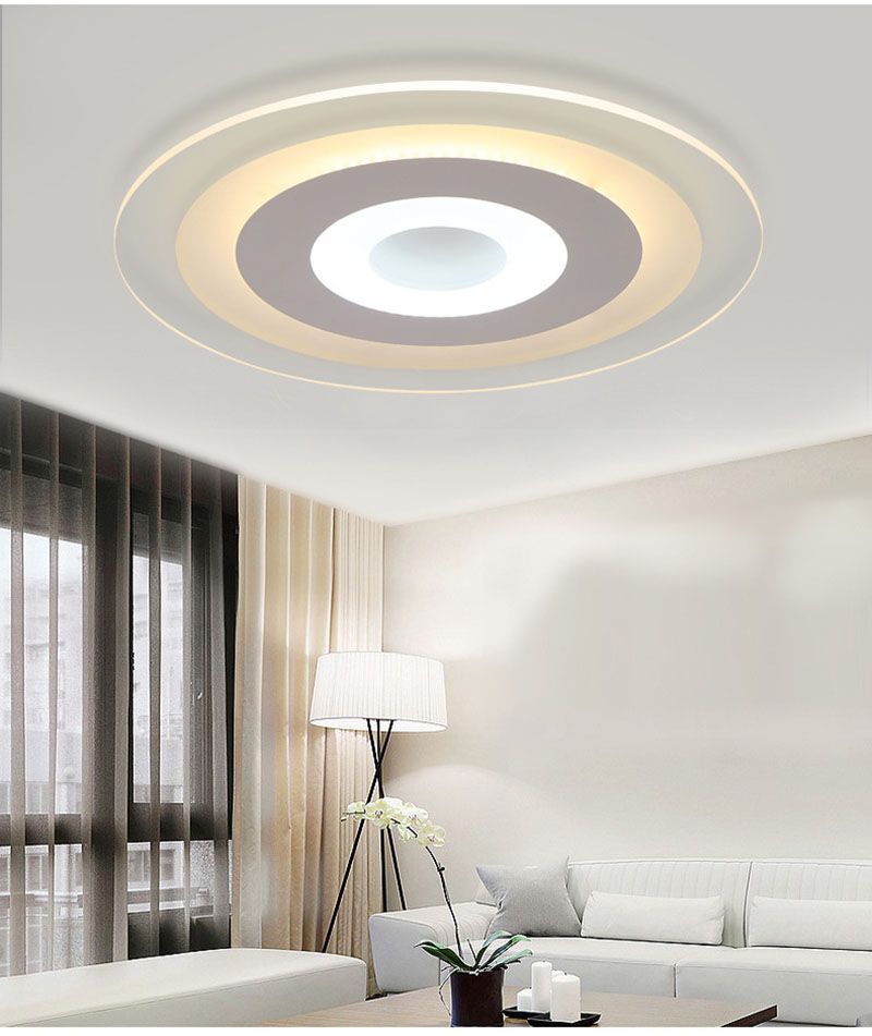 Led Ceiling Light Ultra Thin Acrylic Led Light 30w 38w 45w 56w Round Led Acrylic Lamp Cool W Ceiling Lights Led Kitchen Ceiling Lights Indoor Lighting Fixtures