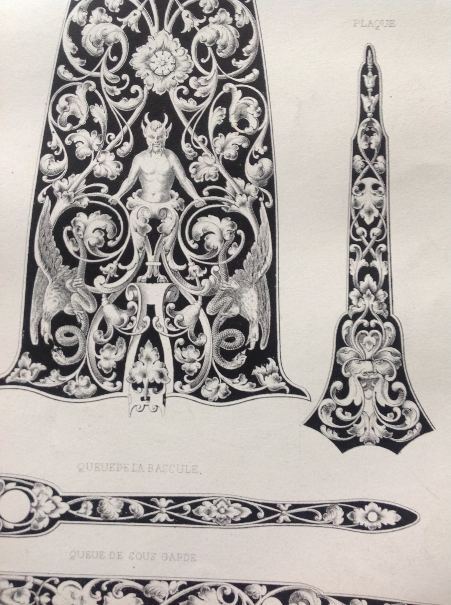 """Belgian ornament from """" Recueil d'ornements et de sujets pour être appliqués à l'ornementation des armes"""" i have some of thèse original prints framed in my workshop (Bram Ramon)"""