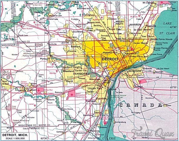 nice Detroit Metro Map | Travelquaz | Detroit map, Detroit michigan ...