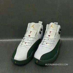 c7a23ed076c612 Nike Air Jordan 12 XII Retro Grass Green White Copuon