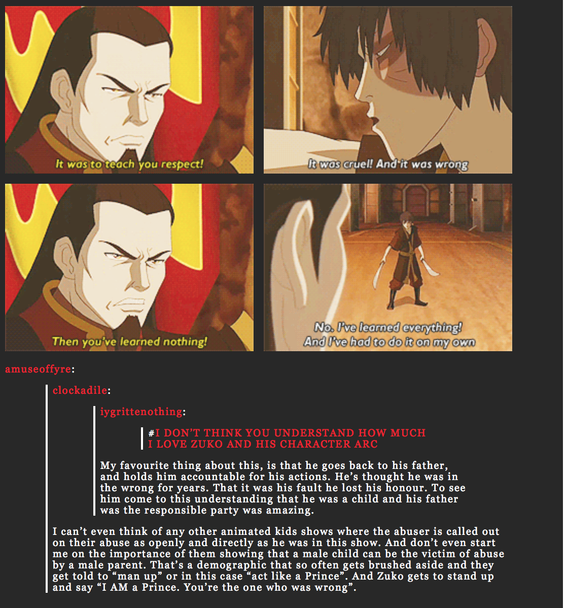 Avatar Airbender: Zuko's Development