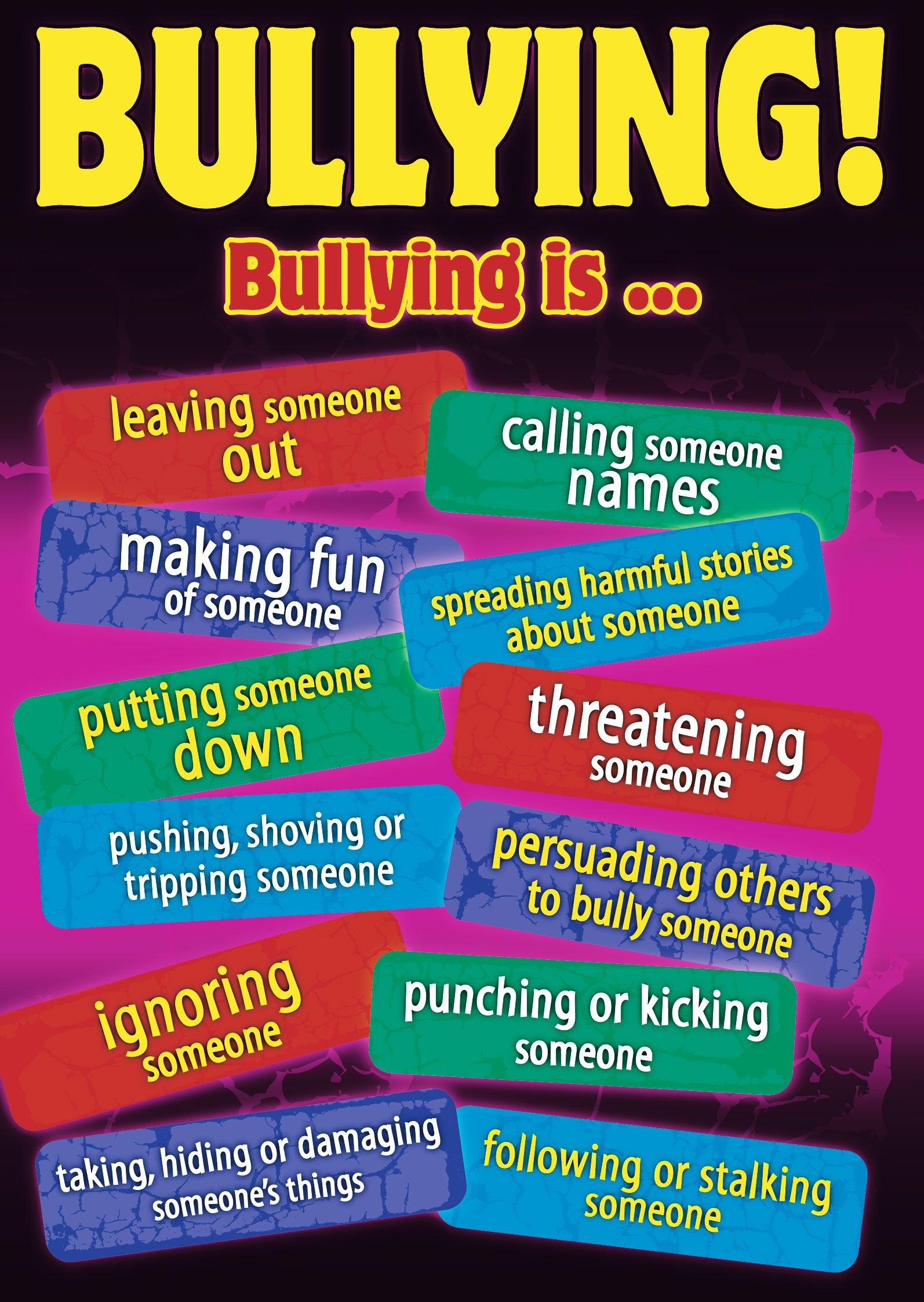 Posters On Bullying