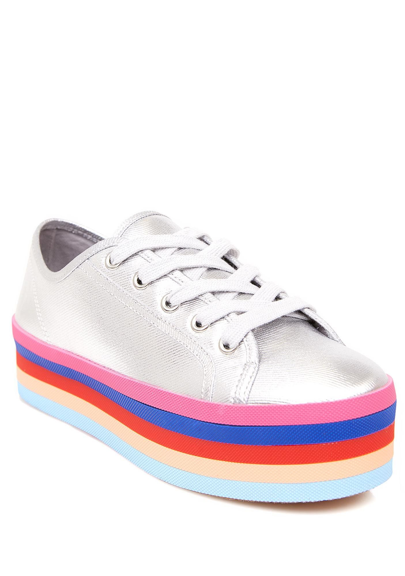 0b1865f0099 Steve Madden Rainbow Sole Lace-Up Shoes