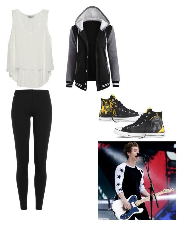 """""""Concert with luke"""" by mayadarielys on Polyvore featuring Polo Ralph Lauren, Bobeau and Converse"""