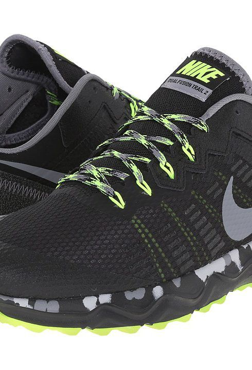 Nike Dual Fusion Trail 2 (Black/Volt/Wolf Grey/Cool Grey) Men's Running  Shoes