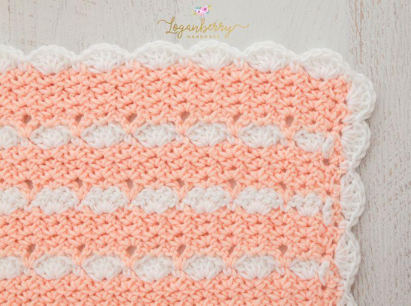 peaches and cream crochet baby blanket, baby blanket crochet pattern ...