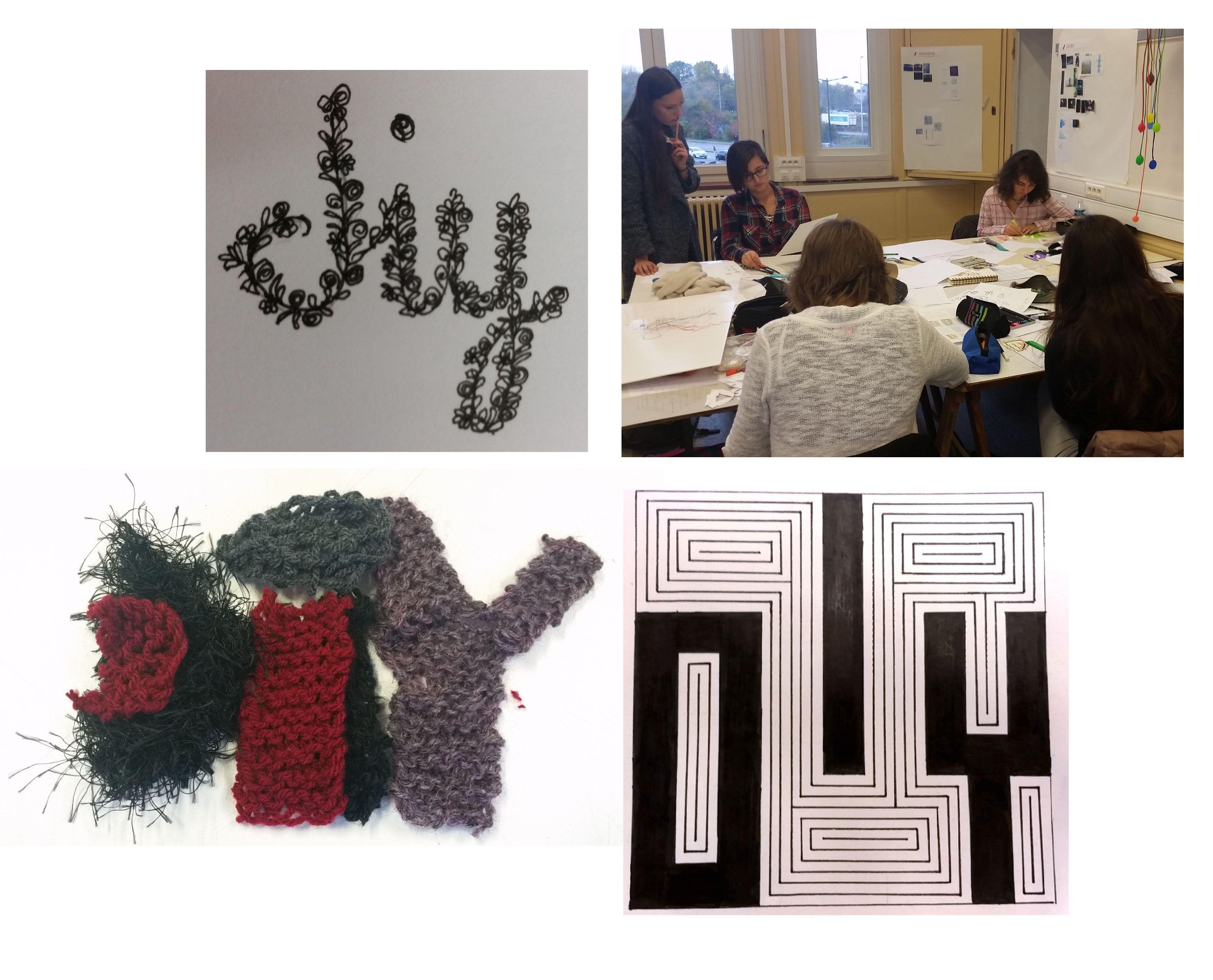"""Rencontre MANAA-DG2 1er jour - Recherches d'un logo-monogramme pour l'identité d'un FabLab """"DIY"""", dans le cadre d'une réflexion sur l'utilisation du monogramme comme élément du langage de marque. Cette rencontre se poursuivra dans un 2e temps sur une réflexion autour du langage de marque et du self-marketing.... histoire à suivre"""