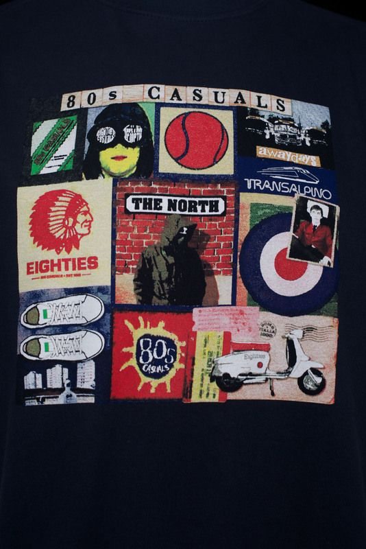 5076bff2035 80s Casuals - Sources of 80s Casuals T-Shirt - Navy