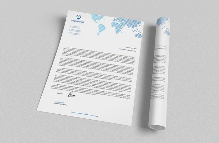 25 Unique and Modern Letterhead Examples - DesignsLayer Graphics - letterhead examples