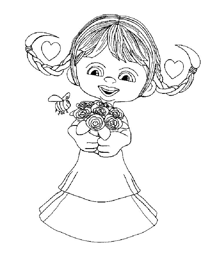 flower girl coloring book pages Check more at http://prinzewilson ...