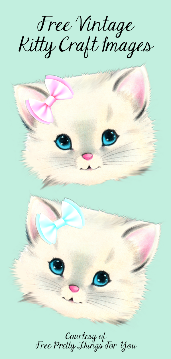 Free vintage kitty cat craft images - Free Pretty Things For You