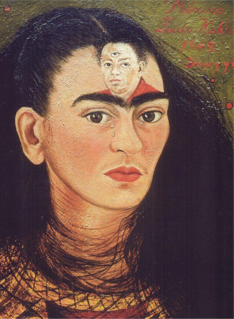 Diego En Mis Pensamientos Obras De Frida Kahlo Frida Kahlo Autorretrato Pinturas Frida