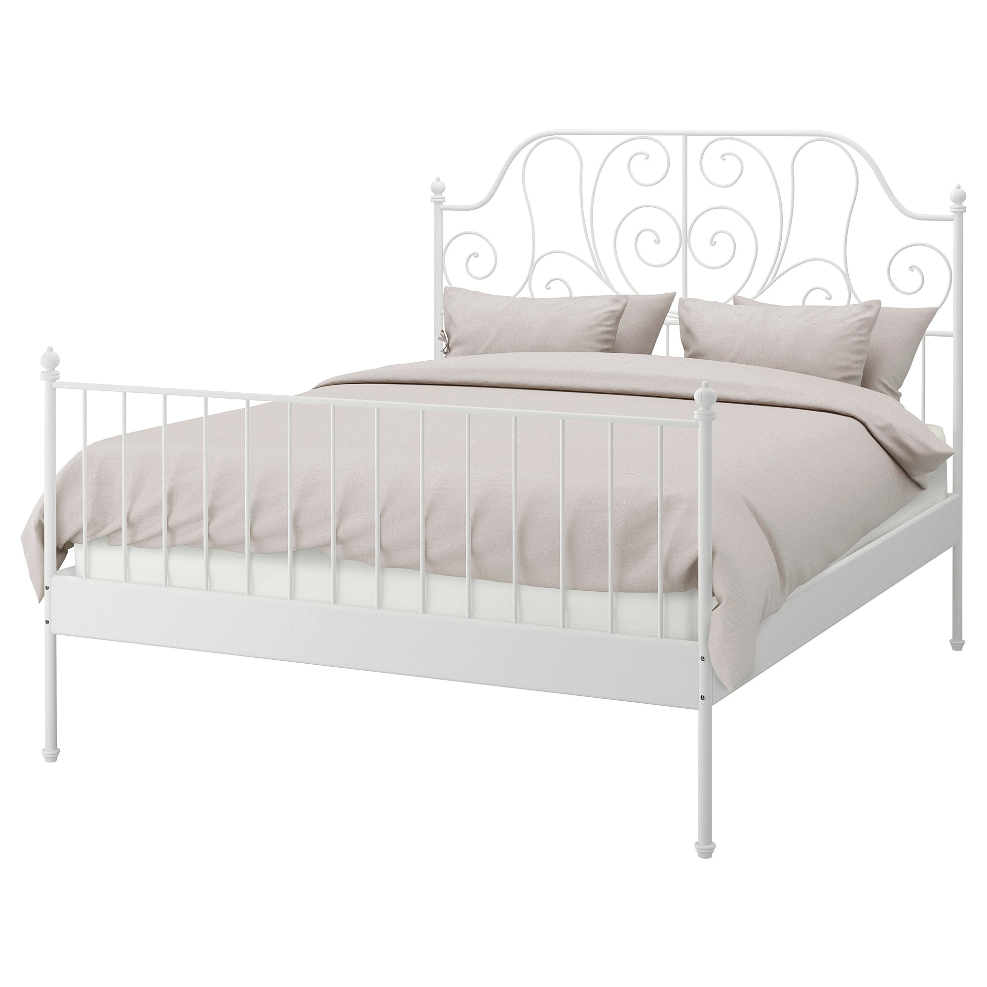 LEIRVIK Bed frame white, Luröy Full (With images) Bed