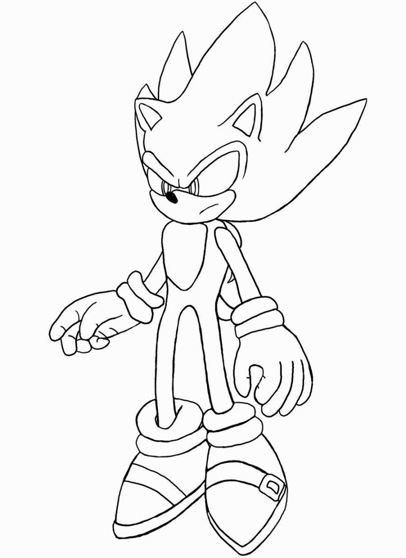 Super Sonic Coloring Pages | Coloring books, Coloring ...
