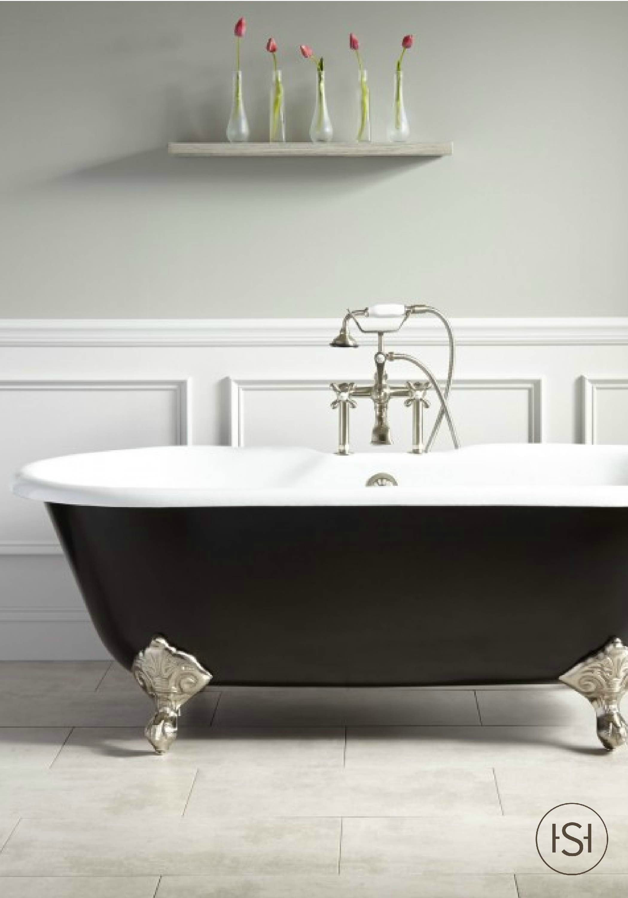 With A Timeless Design This Black Painted Tub Is The Perfect