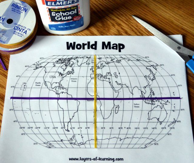 A grid on our earth an exploration on map grids layers of this lesson plan includes a printable world map with a map grid and shows you how to walk kids through a basic understanding of how map grids work gumiabroncs Choice Image