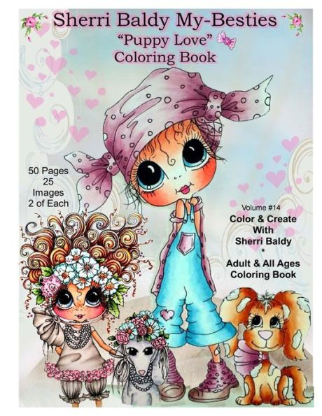 Puppy Love INSTANT Digital Download Coloring Book 25 Images By The