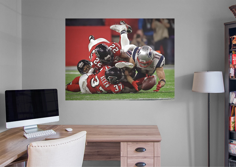 Julian Edelman Super Bowl 51 Catch Mural Giant Nfl Removable Wall Graphic Super Bowl Julian Edelman Wall Murals