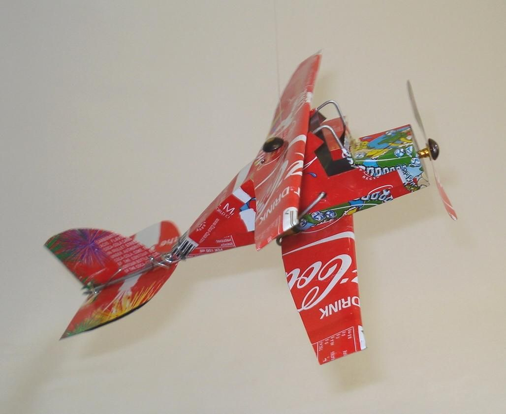 Tin Can Art Our Ranges Radical Recycling Art Tin Can Art Tin Can Aeroplane Tin Can Art Soda Can Crafts Sculpture Kids