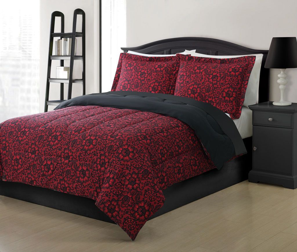 and white bed bedding set grey sets black bedroom comforter gray dark red deep twin