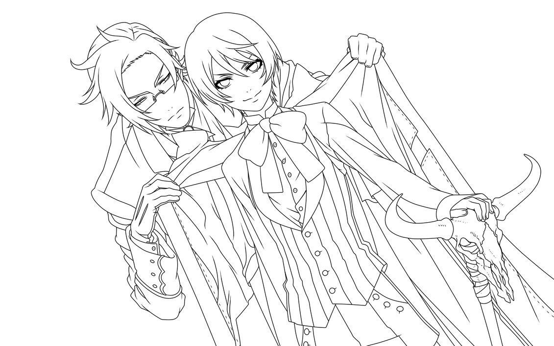 Lineart - Alois and Claude - by piko-chan4ever | Demons ...