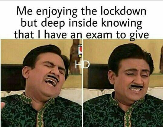 Lockdown Memes Funny Hindi Funny Lockdown Memes In 2020 Fun Quotes Funny Exam Quotes Funny Really Funny Memes