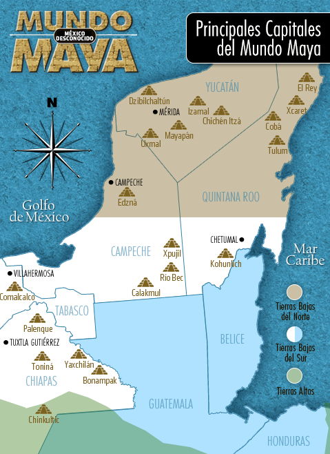 Ubicaci n geogr fica de la cultura maya mundo maya for Cultura maya ubicacion
