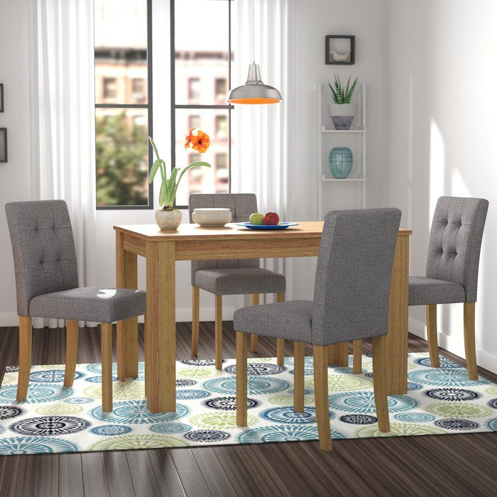1c1b5c72ae647 Elbeni Dining Set with 4 Chairs in 2019 | Home | Chair, Dining, Buy ...