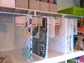 LINDA KITTMER'S FIBRE ART, PHOTOGRAPHY & JOURNALLING: Brilliant Idea for Stencil Storage!