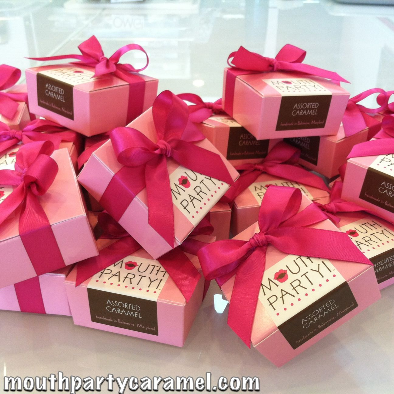 Pink on Pink! Caramel wedding favors!! | Mouth Party at Your Wedding ...