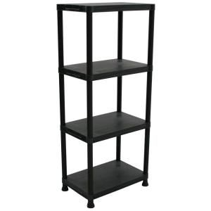 D Black Plastic Storage Shelving Unit, 17192435 At The Home Depot   Tablet