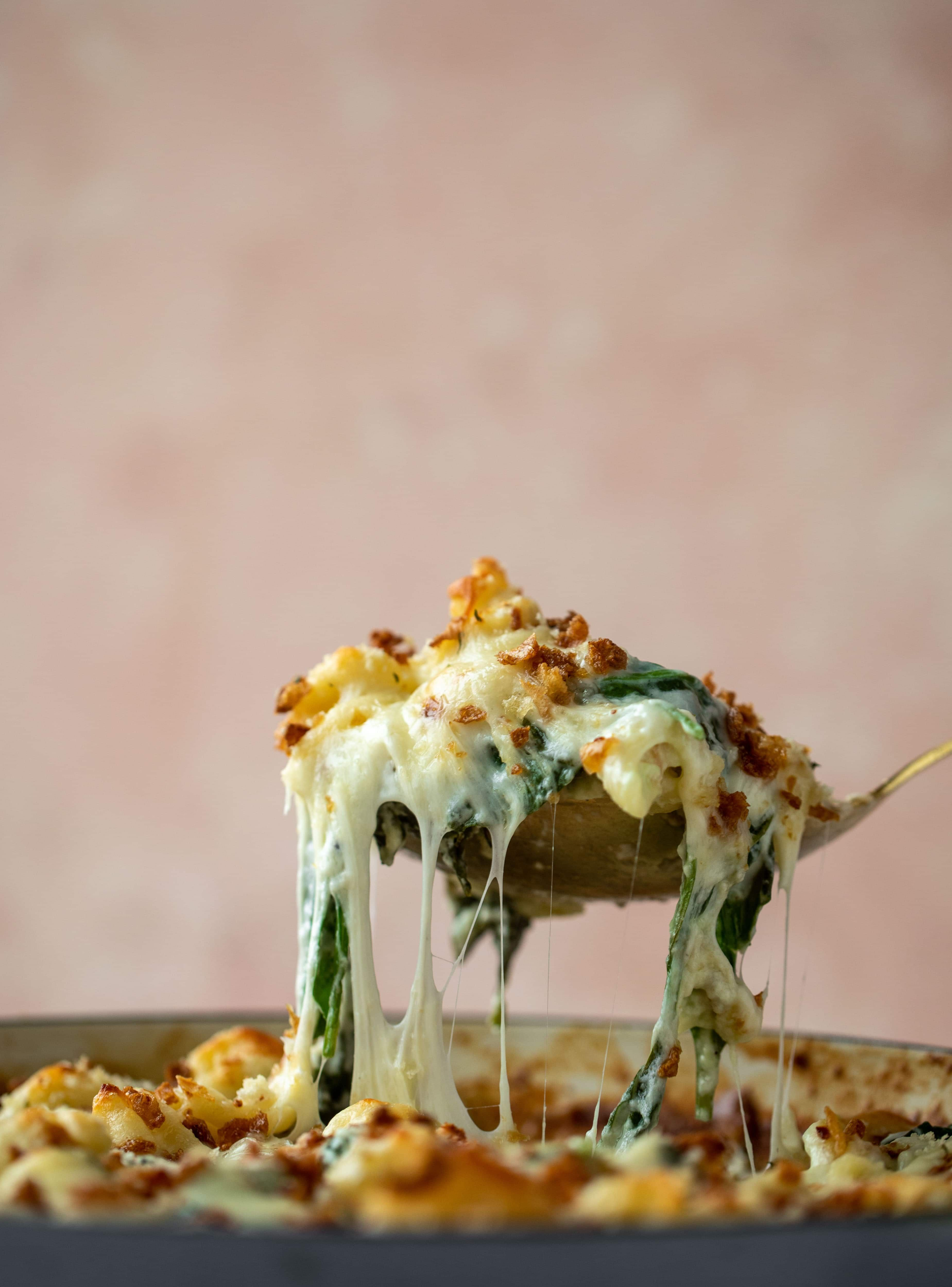 Creamed Spinach Mac And Cheese Recipe In 2020 Spinach Mac And Cheese Mac And Cheese Creamed Spinach