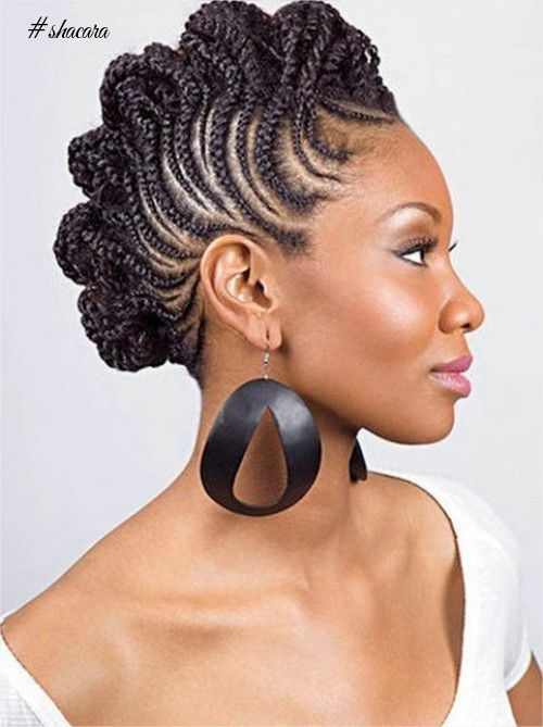 Latest Nigerian Hairstyles You Should See Braided Mohawk Hairstyles Natural Hair Styles Hair Styles