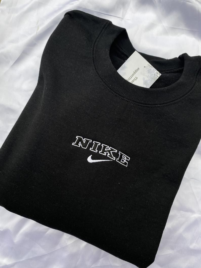 Black Vintage Logo Nike Embroidered Crewneck Etsy Vintage Nike Sweatshirt Vintage Crewneck Sweatshirt Vintage Crewneck [ 1059 x 794 Pixel ]