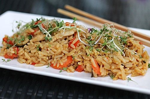 Reispfanne gefl gel rezepte poultry recipes pinterest - Reis kochen tasse ...