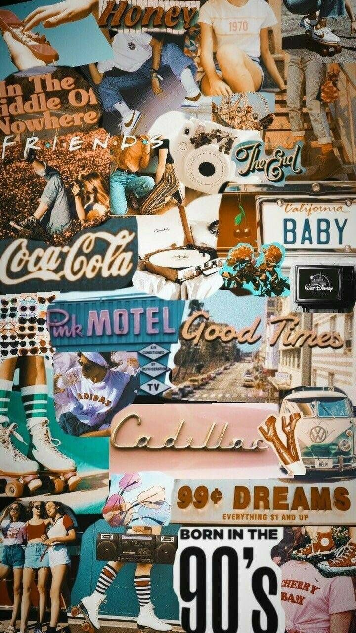 iphone collage background aesthetic.   Iphone wallpaper vintage ...